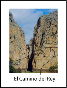 El Camino del Rey as it enters the gorge
